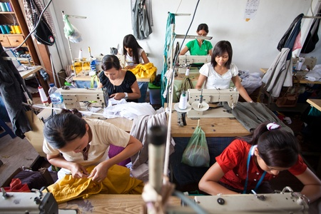 textile industry: small textile factory