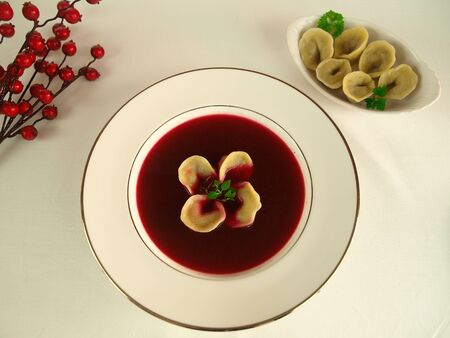 chirstmas: Borsch - red beetroot soup