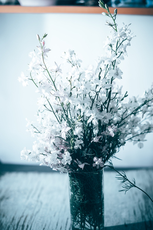lightrays: Field summer flowers with a blurred background in a vase