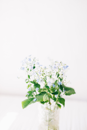 A bouquet of white flowers on a white background.