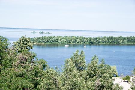 Dnepr River. On a summer sunny day. Cherkassy