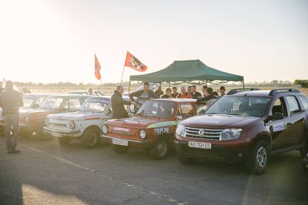 Rally on production cars on October 10, 2018 in the city of Cherkasy, Ukraine. Free entrance.