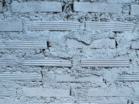 in lined: Striped wall brick lined. Stock Photo