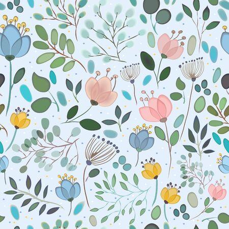 elegance: Elegance Seamless pattern with floral background