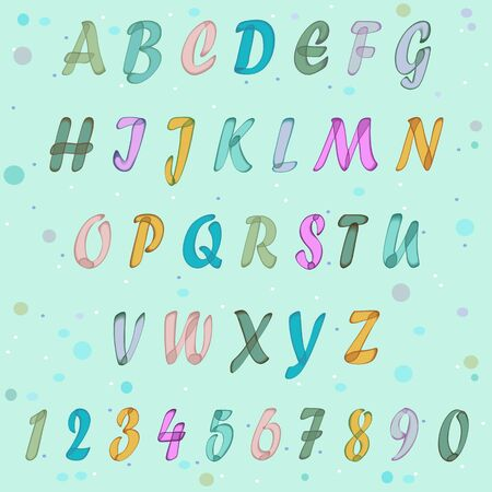 handwriting: Watercolor Handwriting Alphabet