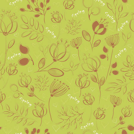 nifty: Nifty Seamless pattern with floral background