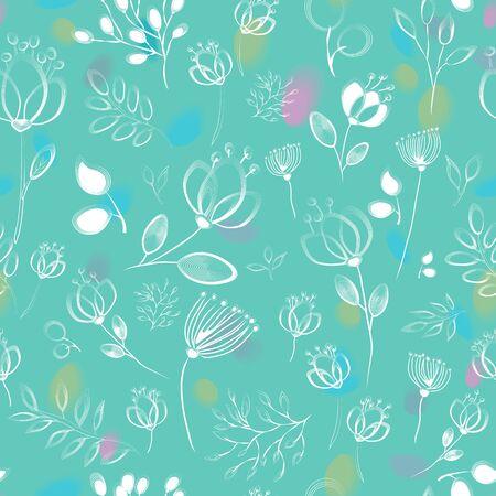 twee: Twee Seamless pattern with floral background