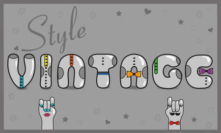 hipster style: Inscription Vintage Style with hipster style. Illustration