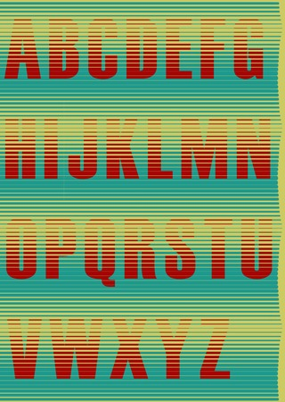 jalousie: Striped Jalousie Alphabet.