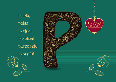 Letter P Love Stock Photos And Images 123rf