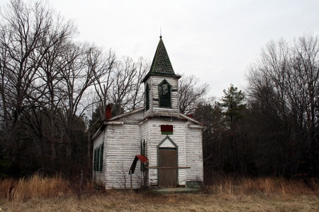 Old Rustic Country  Church Landscape View photo