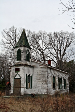 country church: Old Rustic  Country Church Side View Stock Photo