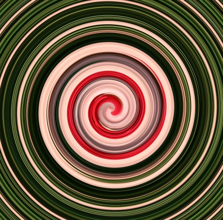 St Patricks Day Swirl with cotton candy like center abstract desgin Stock Photo - 18439962