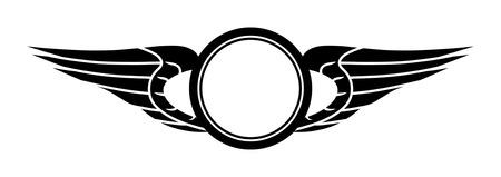 trademark: Plantilla de signo consistente en c�rculos y alas estilizadas.