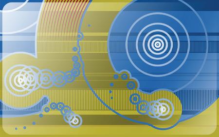 printed circuit board: Signal et vague patrons tant sur un plan ressemblant � la Commission de circuit imprim� avec affichage effet