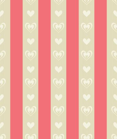 sfondo strisce: Mattonelle senza giunte del Carmine e pallido Stripes ocra con forme di cuore ocra pallido