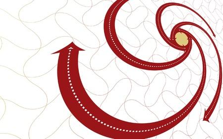 oposicion: Espiral centr�fuga circular con puntas de flecha sugiriendo movimiento hacia adentro y hacia afuera