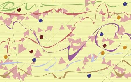 Phantasievoll künstlerische Gestaltung mit Gefühl der Partei und Feier