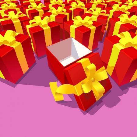 altruismo: Nuevos regalos y uno abierto Vectores
