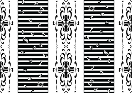 Mixed Style Pattern - Baroque and Modern Patterns Illustration