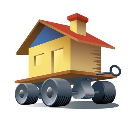 Inmobiliaria portátil Ilustración de vector