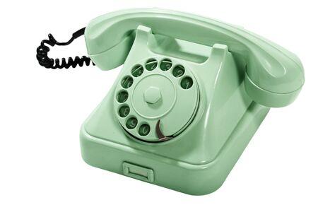 telefono antico: Old Style Telefono Verde analogico, senza che la Cord Curly