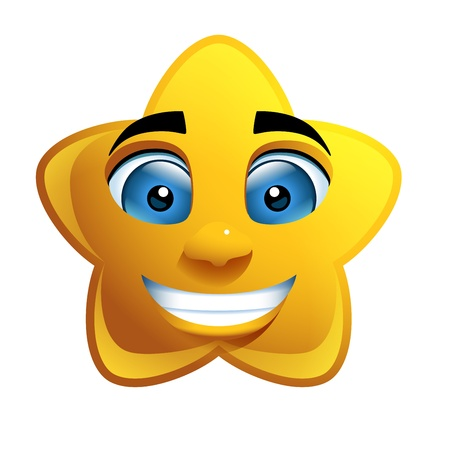 Star Face Loony Character Vector