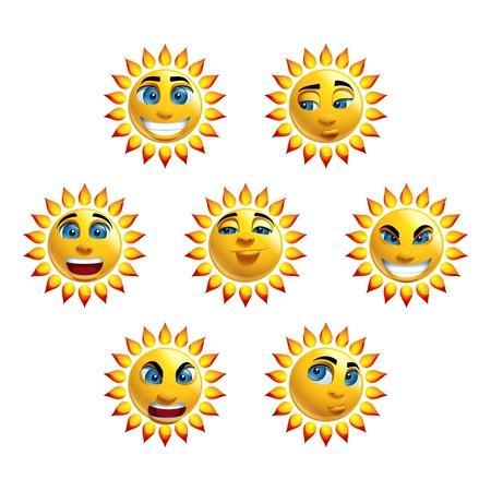 sun down: Sun Face Loony Characters