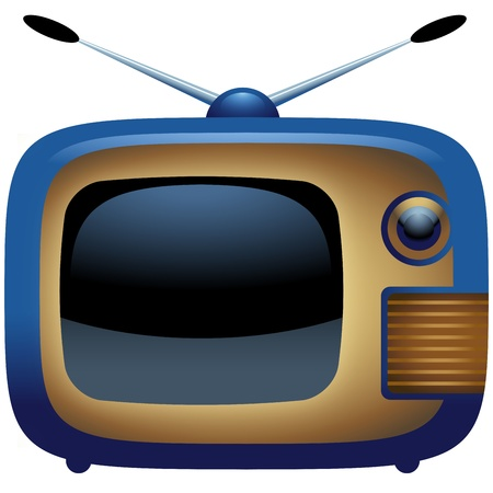 Vintage TV Icon Vector