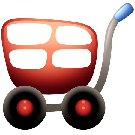 shopping carriage: Shopping Cart Icon Illustration