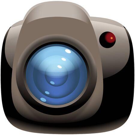 photo camera: Foto icona della fotocamera