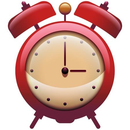 an alarm clock: Icono del Reloj de la vendimia con campanas de alarma