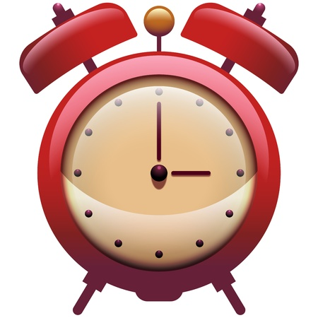 Vintage Clock Icon  with Alarm Bells Vector