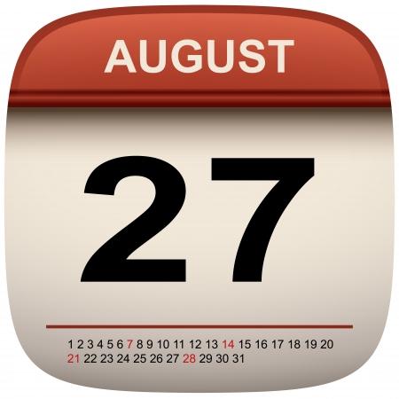 icono de calendario: Calendario de pared Icono