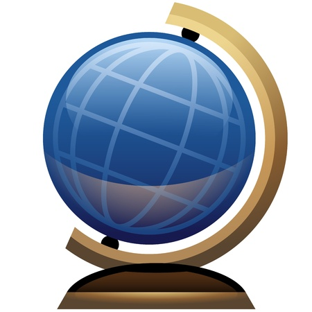 Science Desk Globe Icon