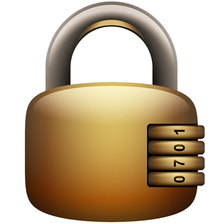 Padlock Icon Illustration