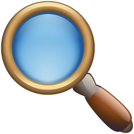 Magnifying Glass Icon Illustration