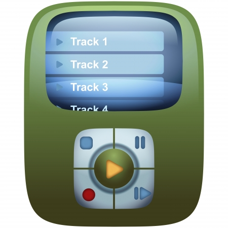 Music Player Portable Device Icon Vector