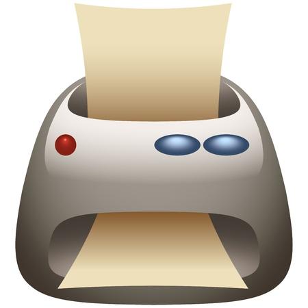 faxger�t: Drucker & Fax Machine-Symbol
