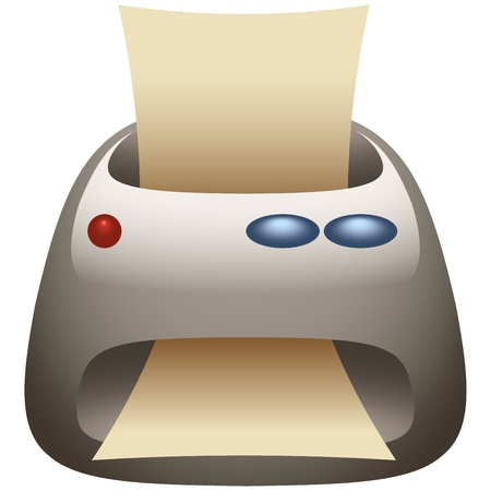 fax machine: Printer & Fax Machine Icon