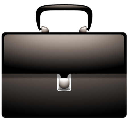 Attache Case Icon Vector