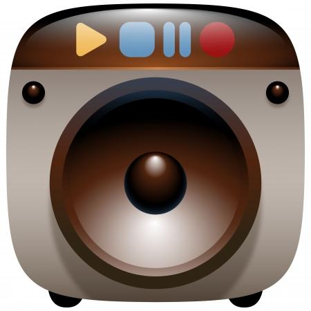 music loudspeaker: Audio Speaker Icon