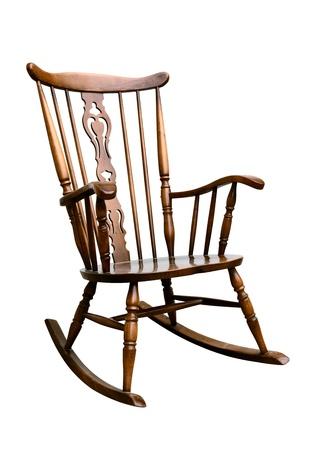 Vintage Damaged Rocking Chair - Right Side Tilted