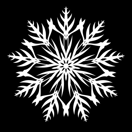 Snowflake Ornament Vector