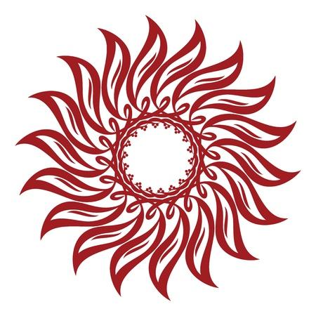 red sun: Sunflower Interlaced Ornament