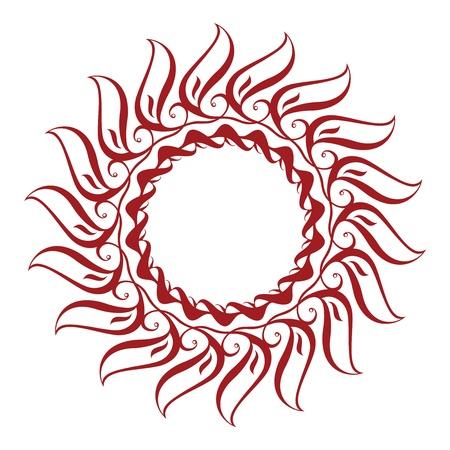Sunflower Interlaced Ornament Stock Vector - 15893876