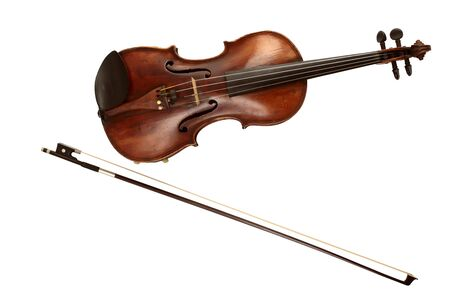 durable: Old Dusty Precious Violin with Bow