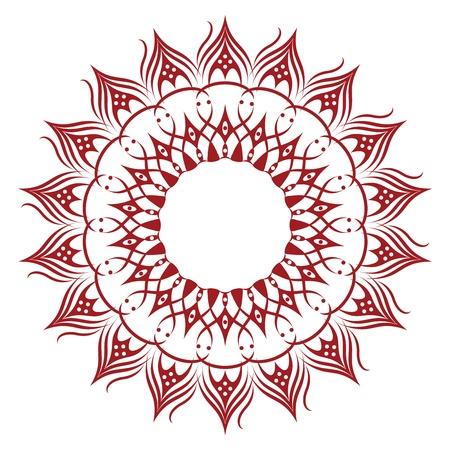 Vivid Sunflower-Shaped Ornament Resembling a Doily Illustration