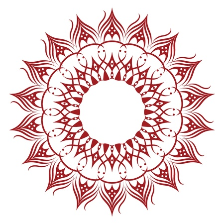 Vivid Sunflower-Shaped Ornament Resembling a Doily Vector