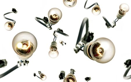 bare wire: Jazzy Light Bulbs Lively Seamless Background